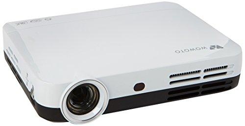 Full HD 3D DLP Beamer, Foxcesd H9 kabelloser Mini WXGA 1080P VideoProjektor, Tragbares WLAN/WIFI Heimkino, Android 4.4, Bluetooth 4.0, HDMI, USB, Multi-Screen-Sharing (1280*800, 2000:1)