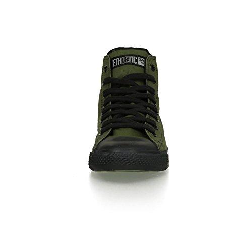 Ethletic Black Cap HiCut / High-Sneaker aus Bio-Baumwolle – grün / schwarz – fair & nachhaltig - 6
