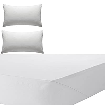 "Olivia Rocco Percale Extra Deep Fitted Sheet, Non iron, 180 TC, 12""(30cm) Box - inexpensive UK light shop."