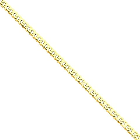 IceCarats 14k Yellow Gold 4.75mm Solid Flat Link Curb Chain