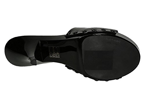 Sabots à talons hauts Miu Miu en cuir verni noir - Code modèle: 5Z9805 3AP8 F0002 Noir