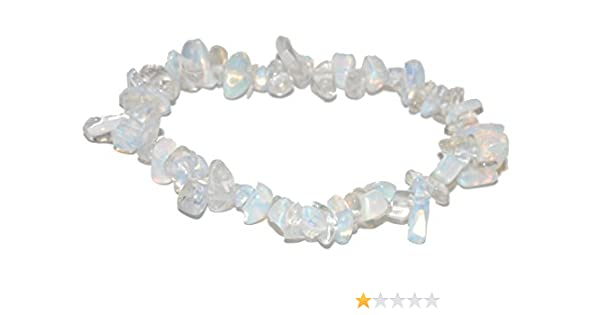 Natural Gemstone Crystal Strand Bracelet or Anklet 6-8 Stretch Miners Horde Chip Chunk Bracelet Labradorite Grey Black Iridescent