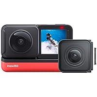 Insta360 ONE R Twin Edition- 4K Action Camera & 5.7K Camera 360 con lenti intercambiabili, Stabilizzazione, IPX8, Impermeabile, Touch Screen, Editing AI.