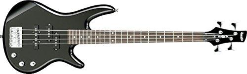Ibanez GSRM20GB-BKN E-Bass Mikro Gio Serie mit kurzer Mensur 4-Saiter in Schwarz inklusive Tasche Schülergitarre/Schülerbass