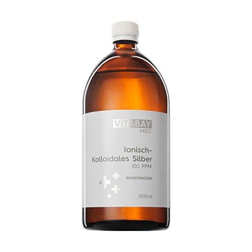 Kolloidales Silber 100 PPM - hoch konzentriert (Reinheitsstufe 99,99%) (1000 ml)