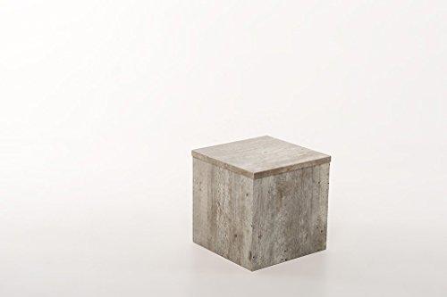 Hermesmöbel Conception de Fleurs Fleurs Tabouret Table d'appoint Table Tabouret béton Naturel l 30 x B 30 x H 30 cm