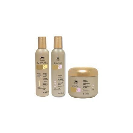 KeraCare Hydrating Detangling Shampoo + Humecto Creme Conditioner + Conditioning Creme Hairdress 8 oz Set - Hydrating Detangling Shampoo