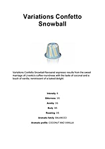 Choose LIMITED EDITION : 50 x Variations Confetto Snowball Nespresso Coffee Capsules - Nestle