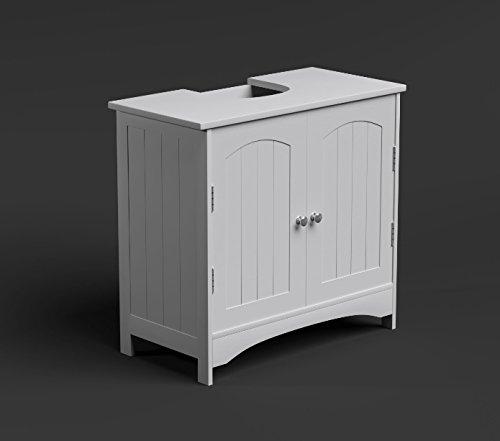Bathroom Cupboard Under Basin Storage Unit 2 Door Wooden
