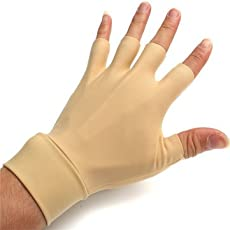 Generic Antiedematic Gloves For Arthritis Hands Fingers Wrist Washable Elastic Fingerless Relieve Pain