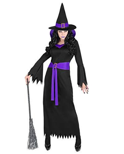 Horror-Shop Lavara Hexenkostüm mit Hut & Gürtel - Klassische Hexe Für Erwachsene Plus Kostüm
