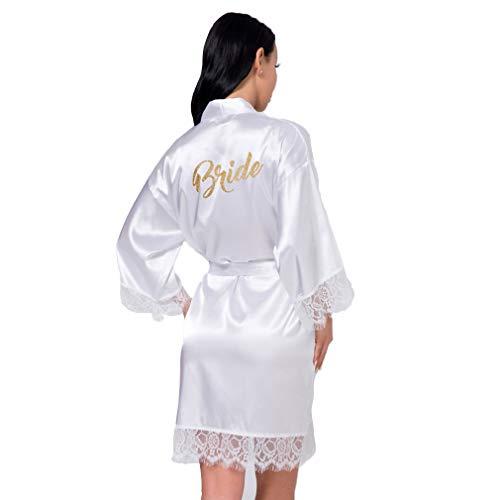 l'ultimo 187b7 03e33 BOYANN Pizzo Vestaglie e Kimono Sposa Satin Bride Damigella d'Onore  Bridesmaid Pigiami e Camicie da Notte