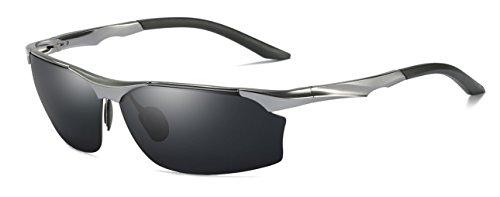 AORON Polarisierte Herren Sonnenbrille Glasses Sport Sunglasses Metallrahme Ultra leicht