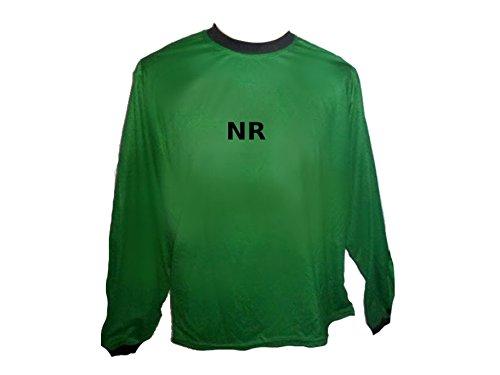 Torwart Trikot gepolstert Grün mit Wunschname Nummer Kinder Größe 140 (Jugend-fußball-torwart Trikot-mädchen)
