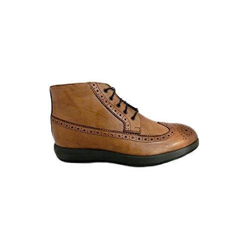 Scarpe sneaker uomo Exton made in italy an68 Marrone (39)