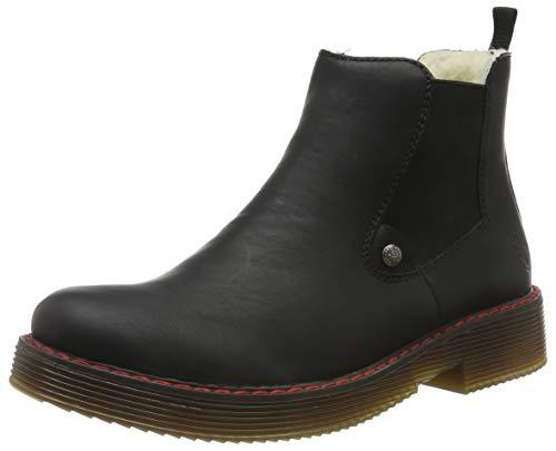 Rieker Damen 70089 Chelsea Boots, Schwarz (schwarz/schwarz 00), 39 EU