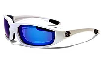 Choppers Masque et Lunettes de Soleil - Multisports - Vtt - Ski - Surf - Moto - Voile - Conduite / Mod. Bull Bleu Miroir