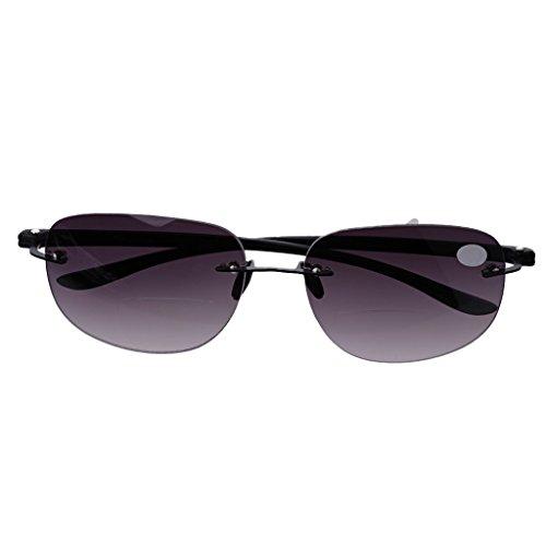 Koehope Lesebrille Outdoor Randlos Angeln Bifokal Lesebrillen Sonnenbrille Leser Blaulicht Schutzbrille +1.0 bis +3.5 Damen Herren