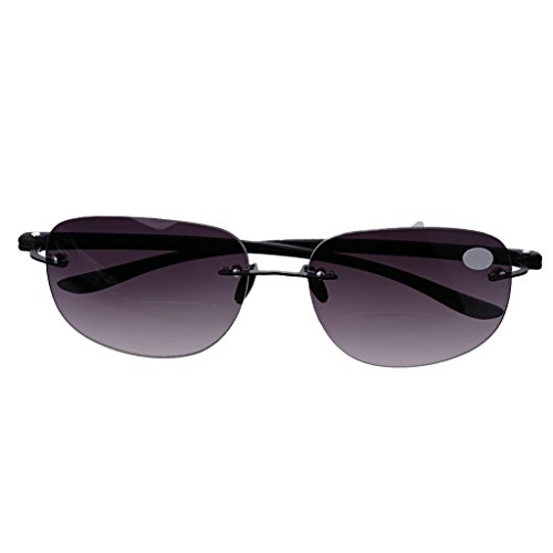 logres 1Paar Outdoor Randlos Angeln bifokale Lesebrille Sonnenbrille Leser + 1.0bis + 3.5(# 006)