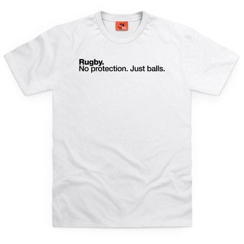 Rugby - Just Balls T-Shirt, Herren Wei