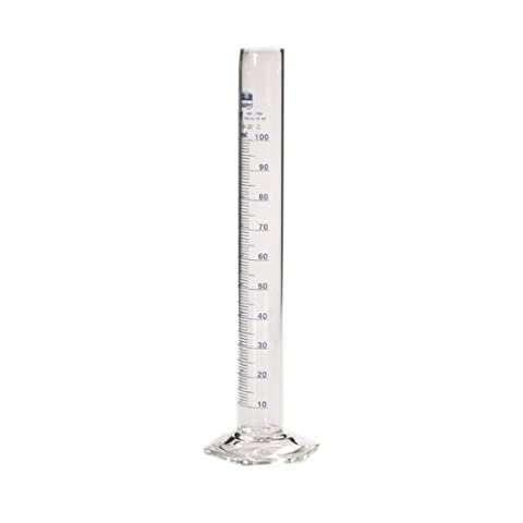 Messzylinder 100ml Borosilikatglas mit Skala und