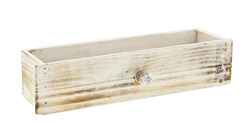 Antike Weißen-finish-holz-badezimmer (Lucky Winner Dekorative Aufbewahrungsbox aus Holz, mit Schublade, 33 cm)