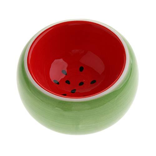 B Blesiya Obst-Form Keramiknapf für Hamster Ratten Meerschweinchen Kaninchen Kleintiere - Wassermelone