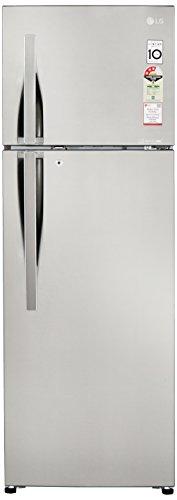 LG 308L 3 Star Frost Free Double Door Refrigerator (GL-C322RPZU, Shiny Steel, Inverter Compressor)