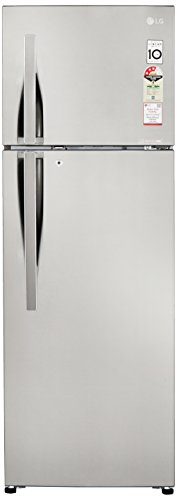 LG 308 L 3 Star Frost Free Double Door Refrigerator(GL-C322RPZU.APZZEBN, Shiny Steel, Inverter Compressor)