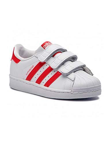 adidas Unisex-Kinder Superstar Cf C Fitnessschuhe Weiß (Blanco 000) 32 EU