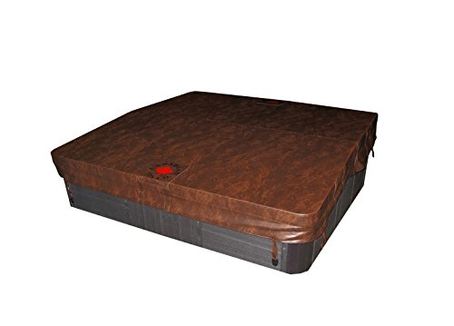 Canadian Spa Company Square B 4R Deluxe Hot Tub Spa Cover, Brown, 86 x 86-Inch