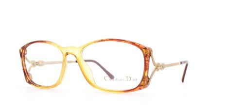 Christian Dior Damen Brillengestell Gelb Gelb/Braun
