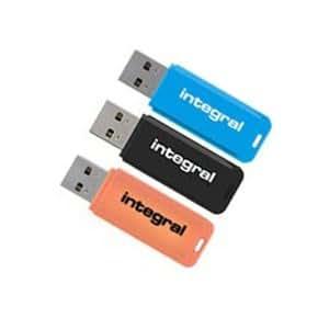 Integral 16GB Neon USB Flash Drives - 3 Pack