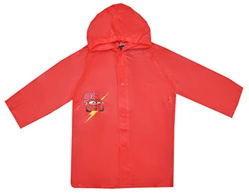 Disney cars lightning mcqueen - impermeabile impermeabile per bambini rosso 7-8 anni