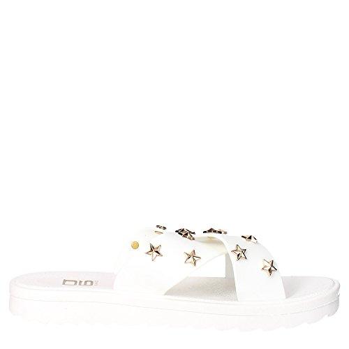 O6 SA0379 Pantoletten Damen Weiß