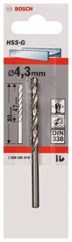 Bosch Professional Metallbohrer HSS-G geschliffen (Ø 4,3 mm) 4.3