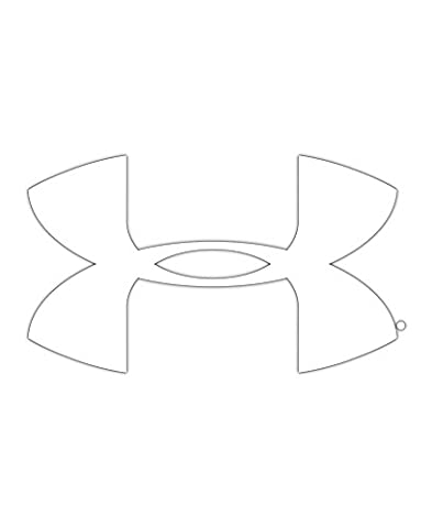 Under Armour UA Big Logo Decal - 12 Inch One Size Fits All White