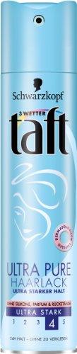 Drei Wetter Taft Ultra Pure Haarlack, parfumneutral, ultra starker Halt, 2er Pack (2 x 250 ml)