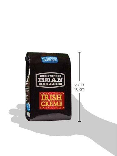 Christopher Bean Coffee Flavored Decaffeinated Ground Coffee, Irish Creme, 12 Ounce