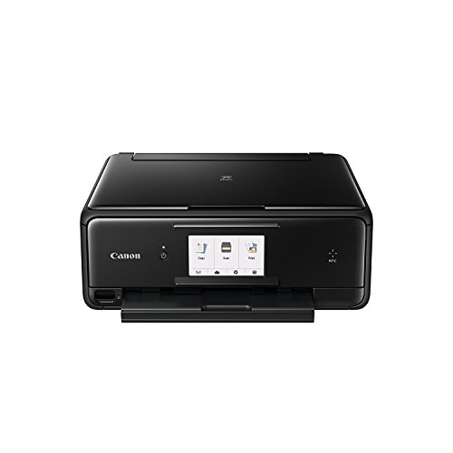 Compare Prices for Canon PIXMA TS8050 All-In-One Inkjet Printer – Black (Canon Printer + OEM Ink Bundle) Discount