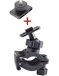 DURAGADGET Fixation support vélo/VTT/BMX pour Sony Action Cam HDR AS50 et Mini AZ1, Kodak SP360 4K, Nikon KeyMission 360, AEE S40 Pro, Ricoh WG-M1
