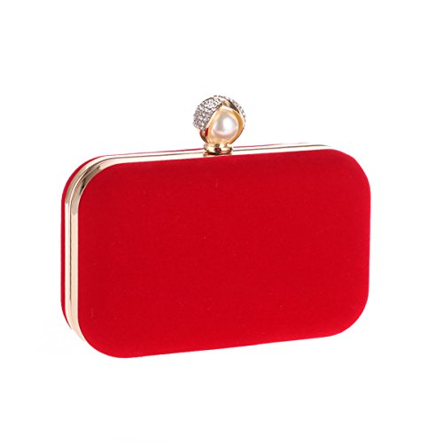 Flada, Poschette giorno donna Rosa Rosy medium Red