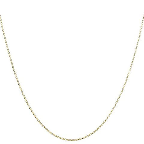 2mm thick 18K gold plated on solid sterling silver 925 stamped Italian BELCHER rolo cable round link marine chain necklace bracelet anklet with spring ring clasp jewellery jewelry - inch