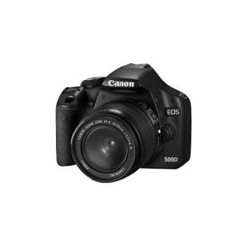 Canon EOS 500D Appareil photo numérique Reflex 15.1 Mpix Kit Objectif 18-55mm IS Noir