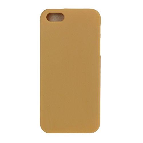 Felfy Tasche Apple iPhone SE/5S/5 Hülle,Apple iPhone SE/5S/5 Case Ultra Dünne Slim Soft Gel TPU Silikon Handyhülle Schutzhülle Durchsichtig TPU Case Backcover Anti-Shock Anti-Sturz Case Niedlich Bonbo Gelb