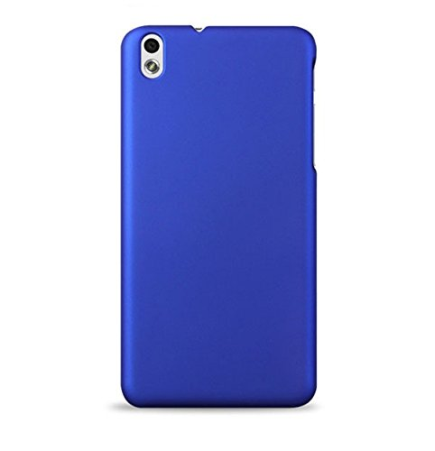 WOW Imagine(TM) Rubberised Matte Hard Case Back Cover For HTC DESIRE 816 / 816G (Uber Blue)