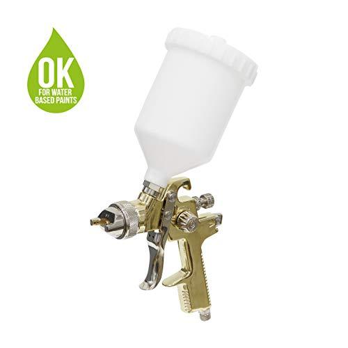 SEAAN Pistola de pulverizaci/ón de pintura de alta presi/ón profesional Pistola de pulverizaci/ón de aire Kit de pistola de pintura neum/ática de alimentaci/ón por gravedad HVLP 600CC 1.4MM 2.0MM 1.7MM