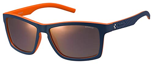 Polaroid Herren PLD 7009/S OZ 9A5 Sonnenbrille, Blau (Bluette Orange/Red Grey Speckled Pz), 57