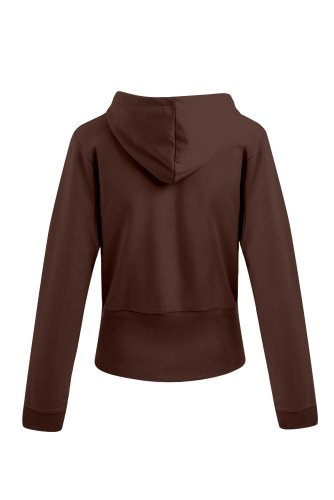 Fashionable Damen Hoody Kapuzensweatjacke mit Elasthan Chocolate