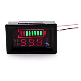 6-60 V Blei-säure-batterie Kapazität Meter Auto Erkennen Batterietyp Lithium-Batterie Monitor Tester für Motorrad Golfwagen (wasserdicht)